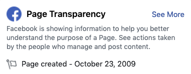 Page Transparency Facebook
