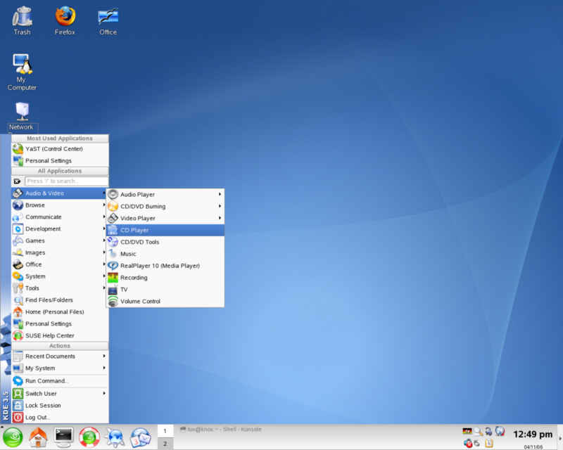 SUSE Enterprise Linux 10 with the KDE 3 desktop. (Credit: Christopher Tozzi on channelfutures.com)