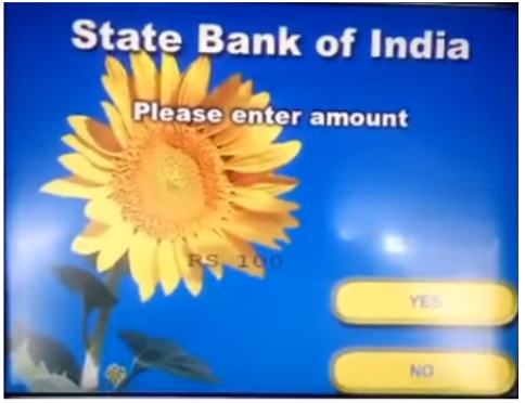 SBI ATM machine, good and bad user design