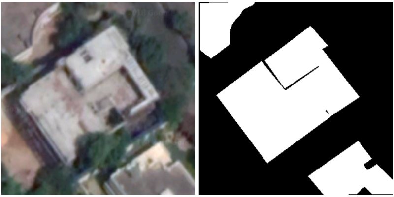 Using Semantic Segmentation to identify rooftops in low-resolution