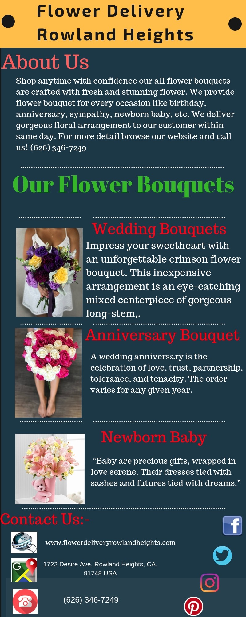 Flower delivery rowland heights same day delivery we have a wide range of freshly picked flower and crafted beautiful flower bouquets for every occasion like birthday anniversary sympathy get well soon izmirmasajfo