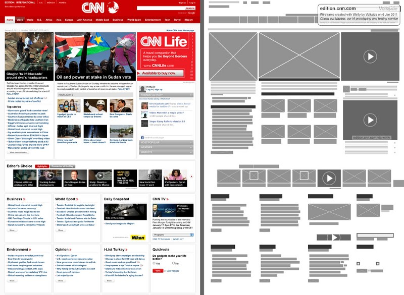 CNN wireframe example