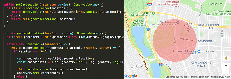 How you can replicate Airbnb's location area display using geocoding in Angular