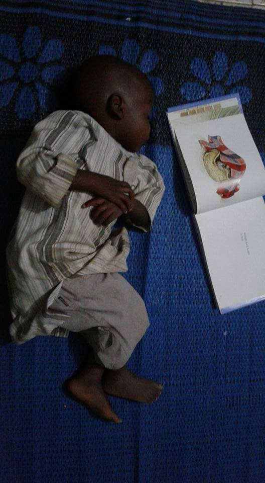 Hairy Maclary works as a bedtime story even when your bed is a mat, south of the Sahara.