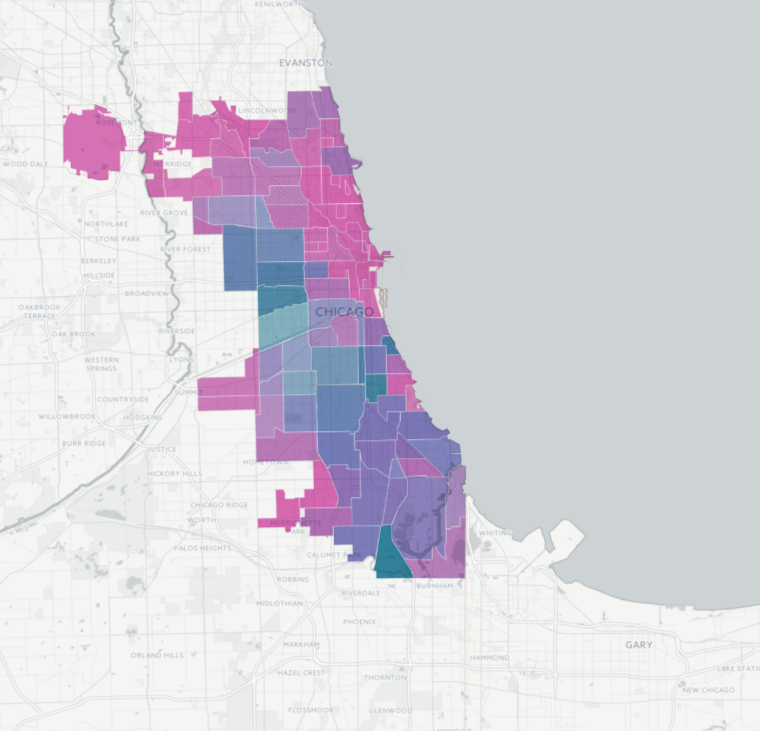 Above Chicago Il The Map On The Lower Right Shows Us The Areas That Are At The Highest Risk These Ares Have A Graduation Rate Lower Than 80 And Over A