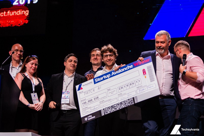 Patch AI - the winner of 100000 euro prize at Startup Avalanche, Techsylvania 2019