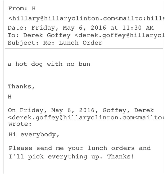 Podesta Hot Dog Emails