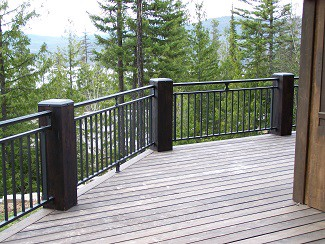 Installing Pickets Made Of Iron Steel Or Powder Coated Aluminum Is An Inexpensive Way To Add Some Style Your Deck They Are Frequently Combined With A