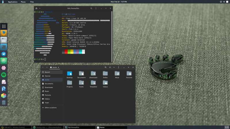 Trying out Clear Linux* and GNOME 3.