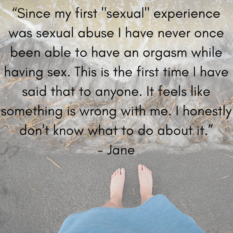 "One of the first people to share some of their story with me was ""Jane"".  Like so many abuse survivors, Jane is alone with her pain."