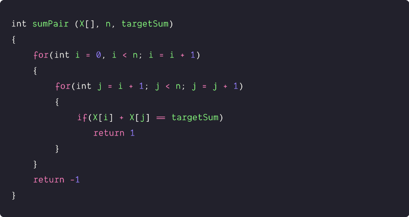 Check For Pair In An Array With A Given Sum