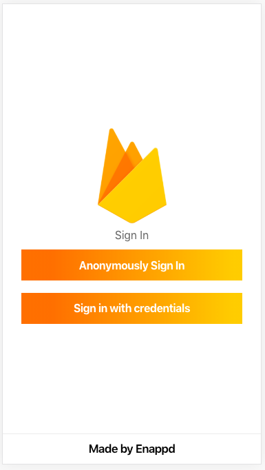 Implement Anonymous login in Ionic 4 Apps with Firebase