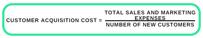 Customer acquisition cost formula at Capturly