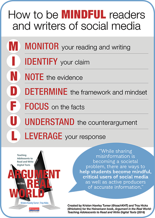 How to teach students to be MINDFUL readers and writers of social media.