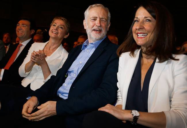Image of Andy Burnham, Yvette Cooper, Jeremy Corby and Liz Kendall during the Labour leadership campaign from [AP via NorthJersey.com](http://www.northjersey.com/news/labour-elects-far-left-leader-in-british-politics-shake-up-1.1408718)