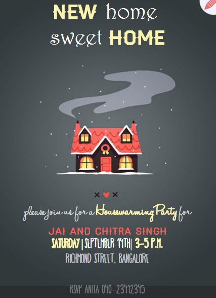 House Warming Invitation as beautiful invitations layout