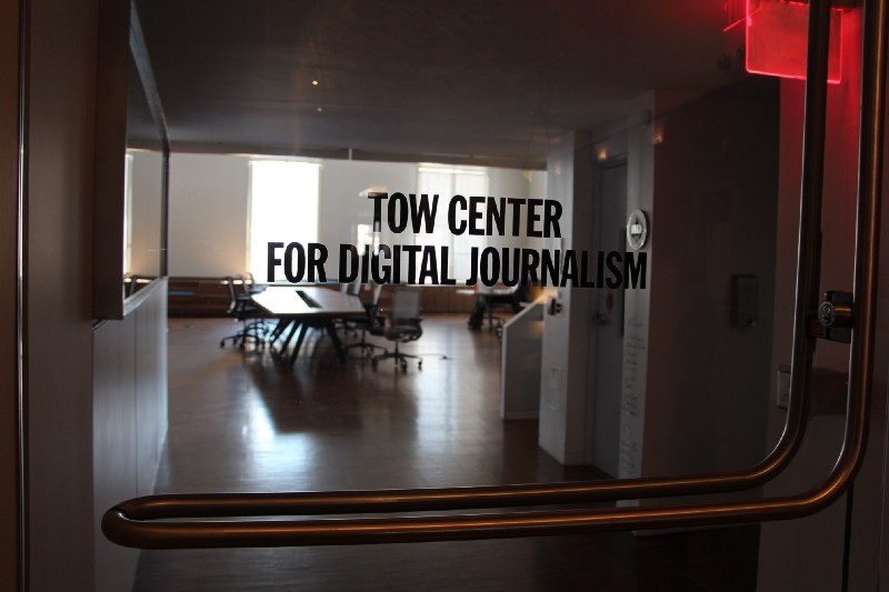 Front door, Tow Center for Digital Journalism