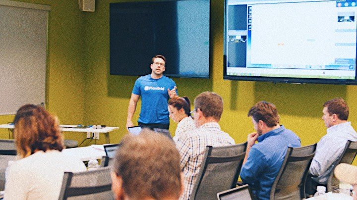 Blake in action at a recent PlanGrid consulting session