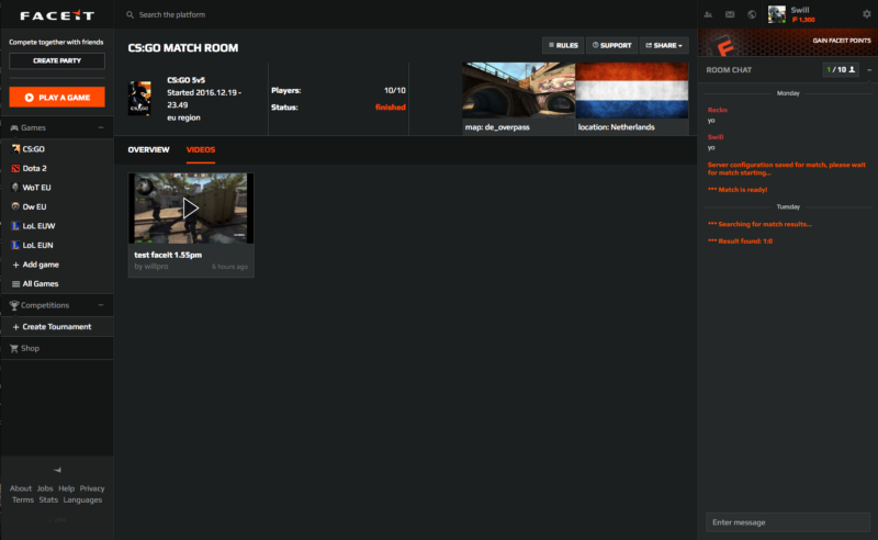 Plays tv on FACEIT!! – FACEIT