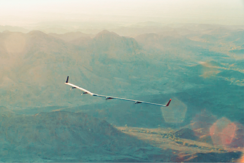 Facebook's Flying Aquila Drone Will Beam Down Internet