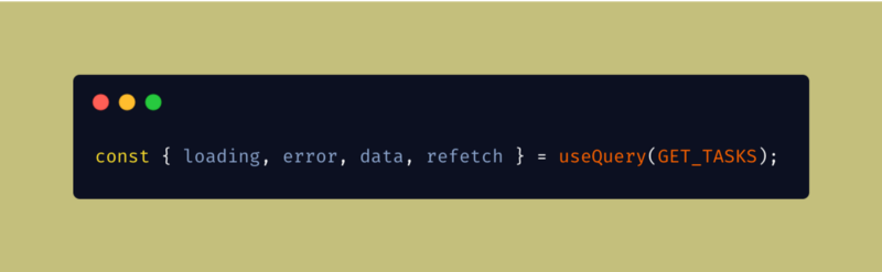 refetch method from useQuery
