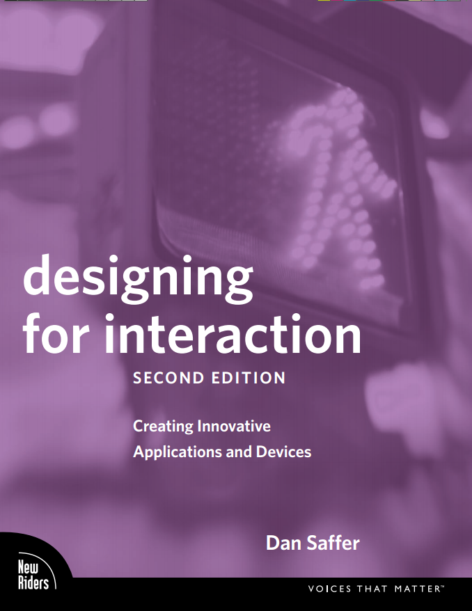 User experience design best sources to learn ux prototypr designing for interaction by dan saffer fandeluxe Image collections
