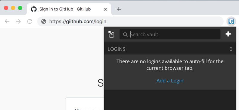 Why doesn't my password manager show my Github credentials?!?! Is itbroken?
