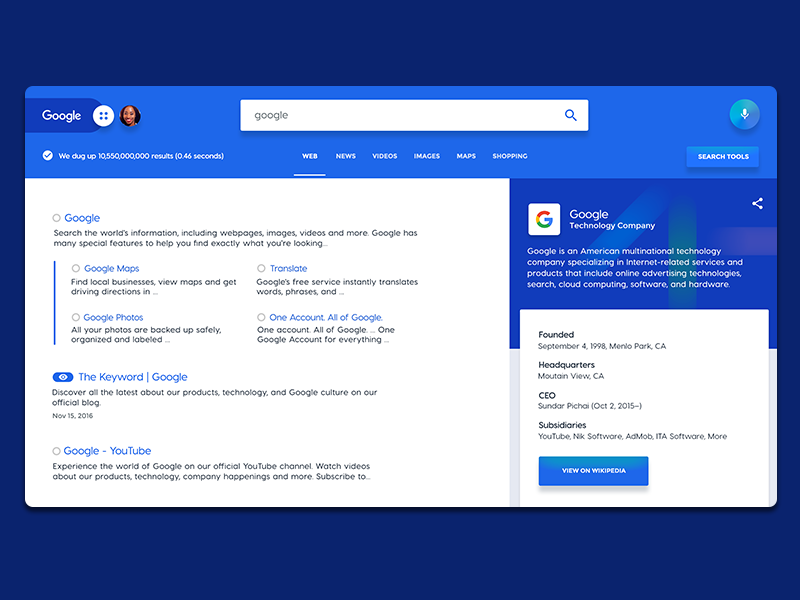 Google Redesign Inspiration User Experience Design
