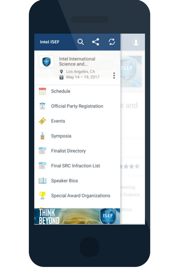 ISEF app a good example of event apps