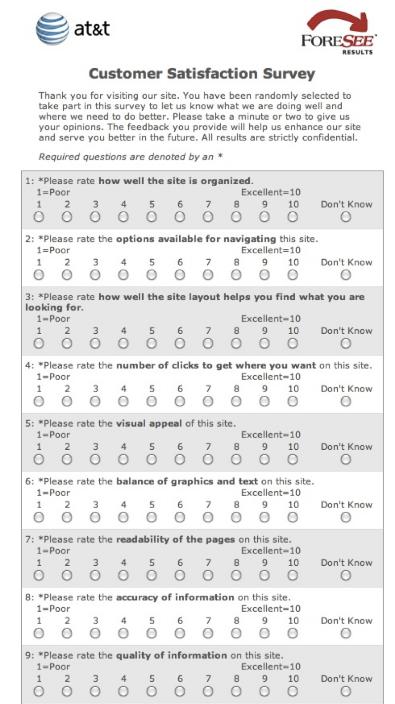 how to ask a client to complete a survey