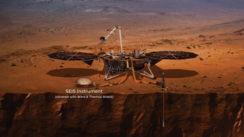 The SEIS will measure the frequency and magnitude of Marsquakes (NASA)