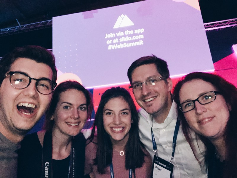 Slido team at Web Summit 2017