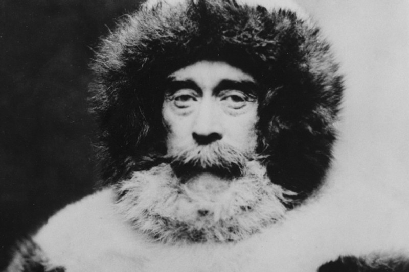 Admiral Peary at the North Pole in 1909