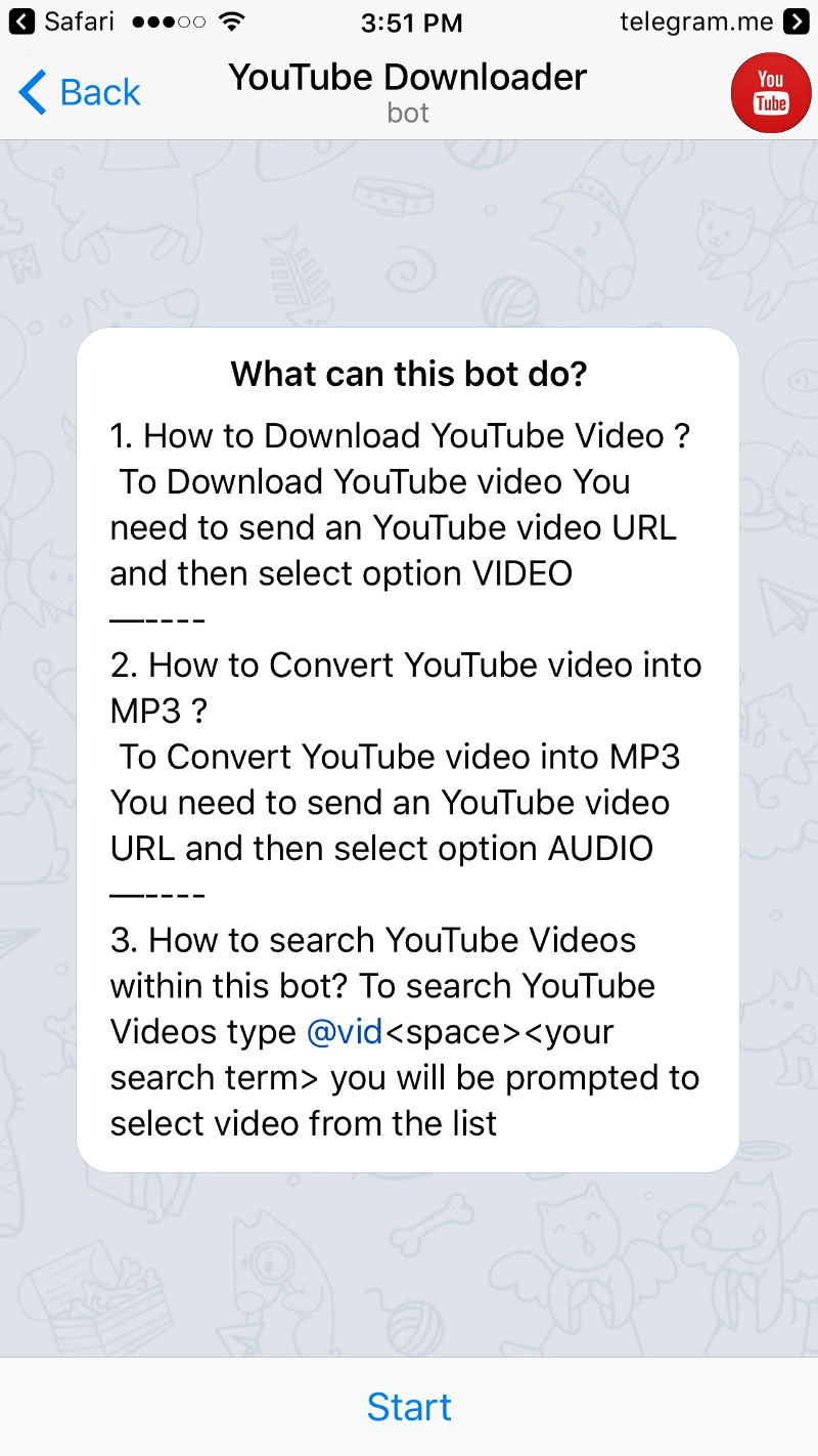 I Replied English, And The Bot Asked Me To Give It The Video Link After