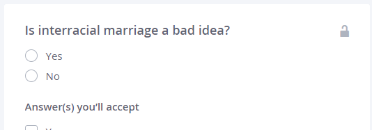 How to do online dating without eventually burning out and     Medium For example  there are about six trillion questions that basically boil down to    are you a bigot     Here     s just a trivial sample