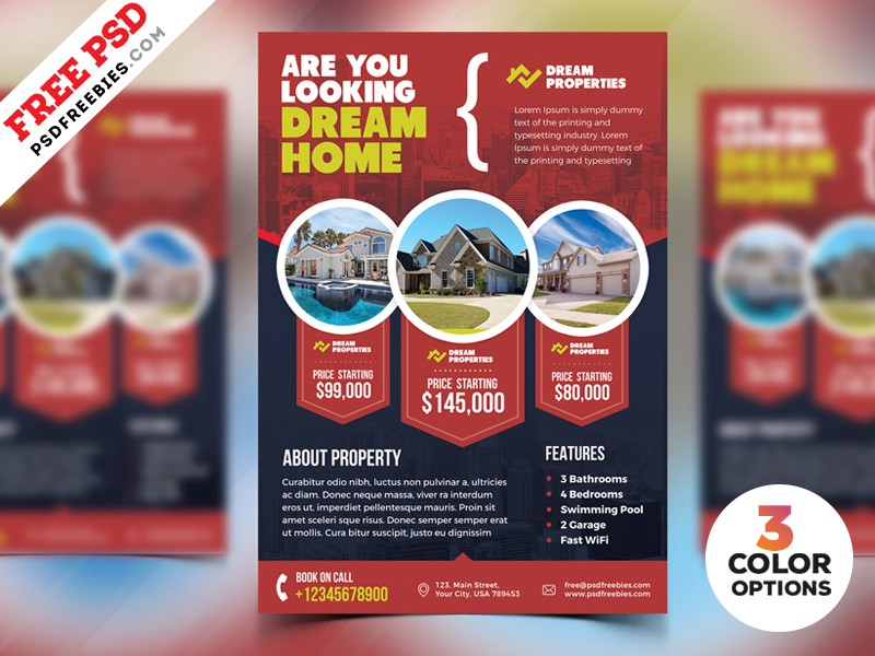 Download Free Real Estate Flyer Templates PSD