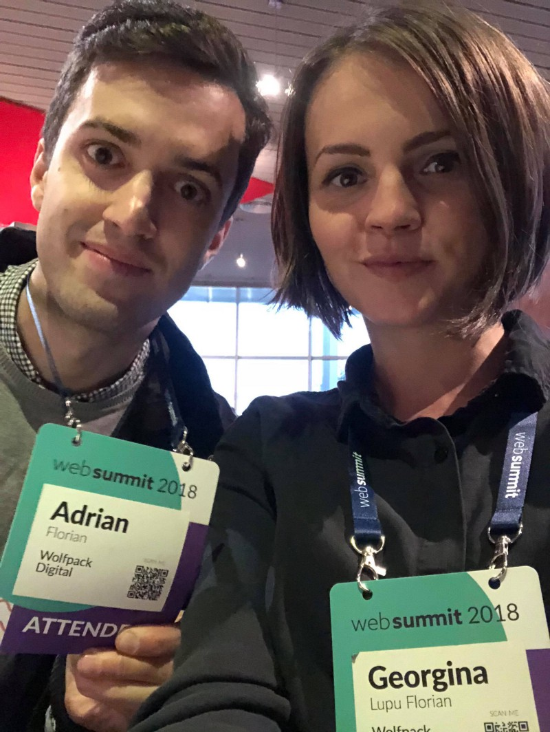Highlights of the second day of Web Summit 2018 by CEO and CTO Wolfpack Digital, Gina and Adi