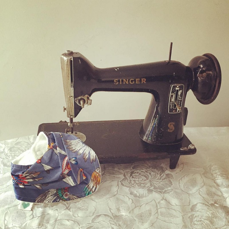 The Singer sewing machine my mother, then myself used when growing up