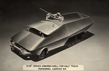 Spaced Armored Shell for Half Track Personnel Carrier. Arthur Radebaugh.