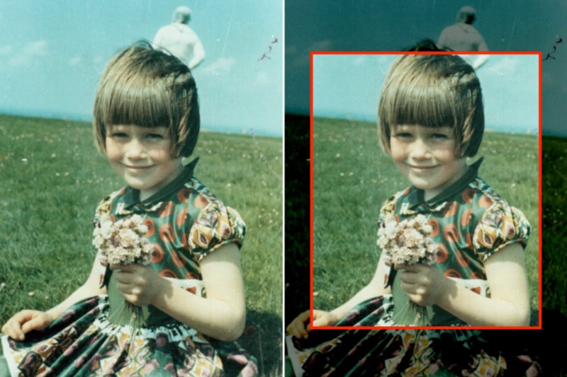 Templeton's viewfinder only showed about 70% of the image