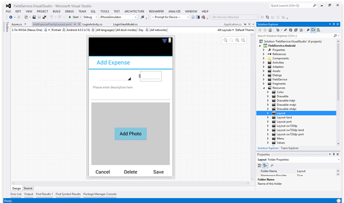 Visual Studio UI Design with Xamarin