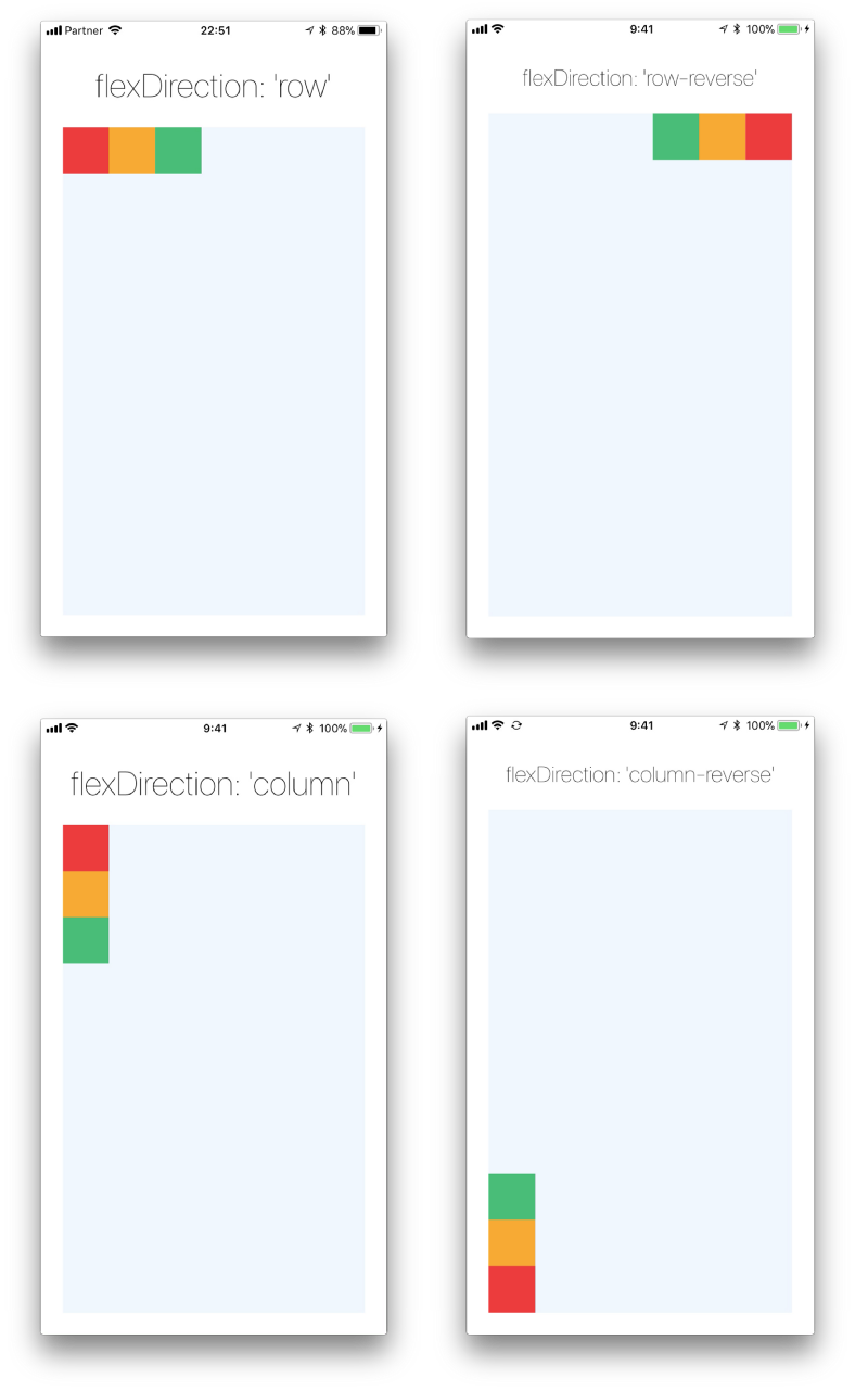 Layout with Flexbox · React Native