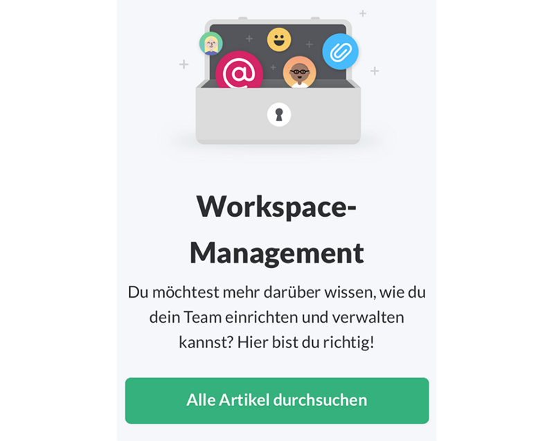 Workspace-management screenshot