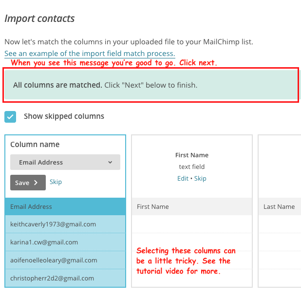 how to import contacts to MailChimp fig 12