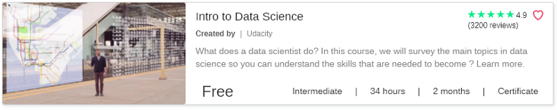 Intro to Data Science by Udacity