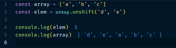 Array.unshift Method