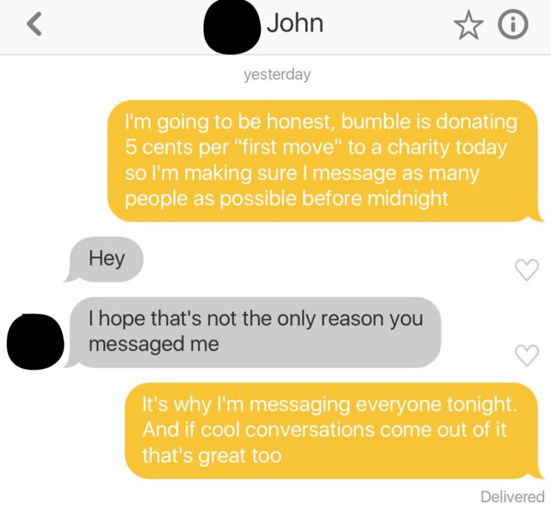 How to start a conversation in bumble