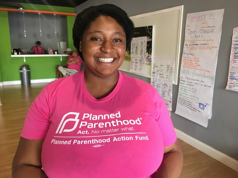 Planned Parenthood public policy manager Porsha White. CREDIT Kira Lerner