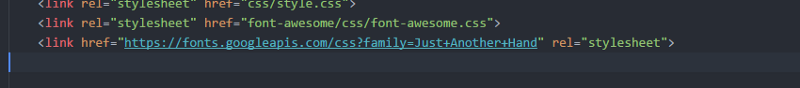 CSS linked to Atom