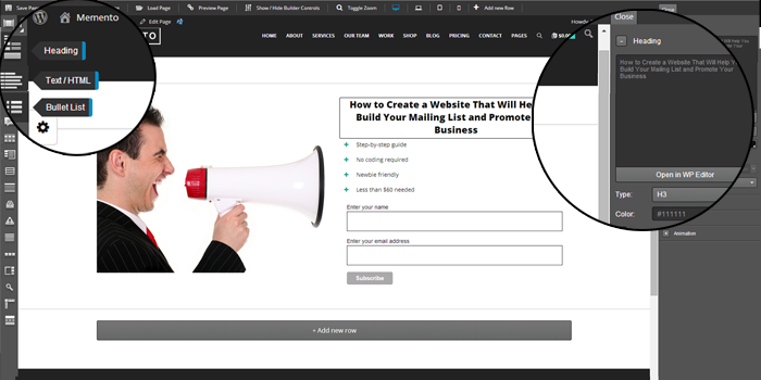 how to create a mailing list for my website